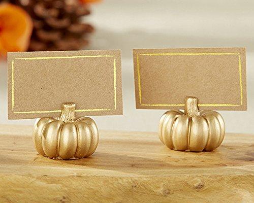 24 Gold Pumpkin Place Card Holder