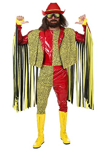 Randy Savage Macho Man Costume Adult WWE Costume Officially Licensed Randy Savage Costume X-Large -