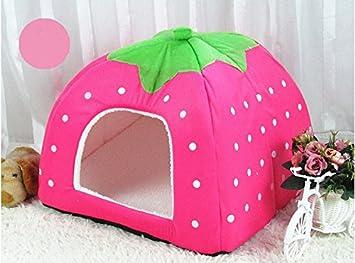 Monbedos Cojín para Mascotas con Forma de Fresa para Perros Pequeños y Gatos, Rosa, Small: Amazon.es: Hogar