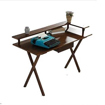 BinLZ-Table Mesa de Libro de Madera Maciza Computadora de ...