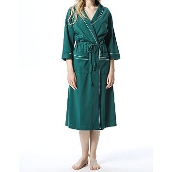 Amazon.com: Pajamas Ladies Bathrobes Cotton Super Soft Thick ...