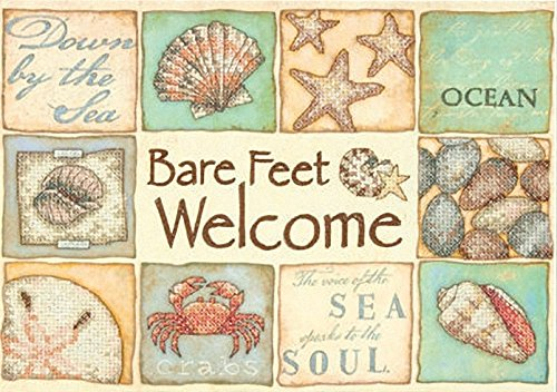 DIMENSIONS Needlecrafts Bare Feet Welcome Stamped Cross S...