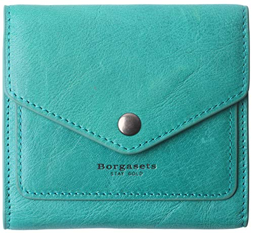 Mini Womens Leather - Small Leather Wallet for Women, RFID Blocking Women's Credit Card Holder Mini Bifold Pocket Purse (peacock green)