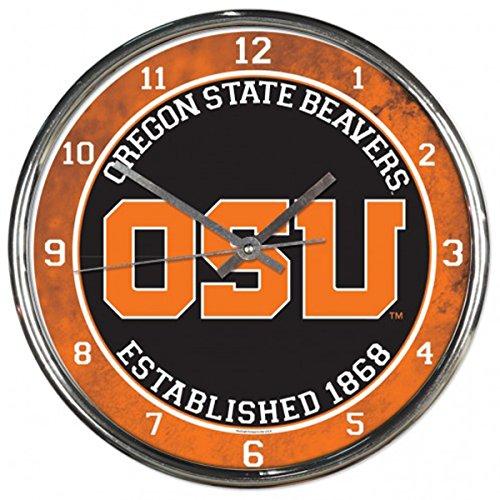 WinCraft Oregon State Beavers Clock 12 Inches Plastic ()