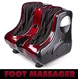 US Foot Massager Calf Leg Ankle Shiatsu Kneading Rolling Vibration Heating New