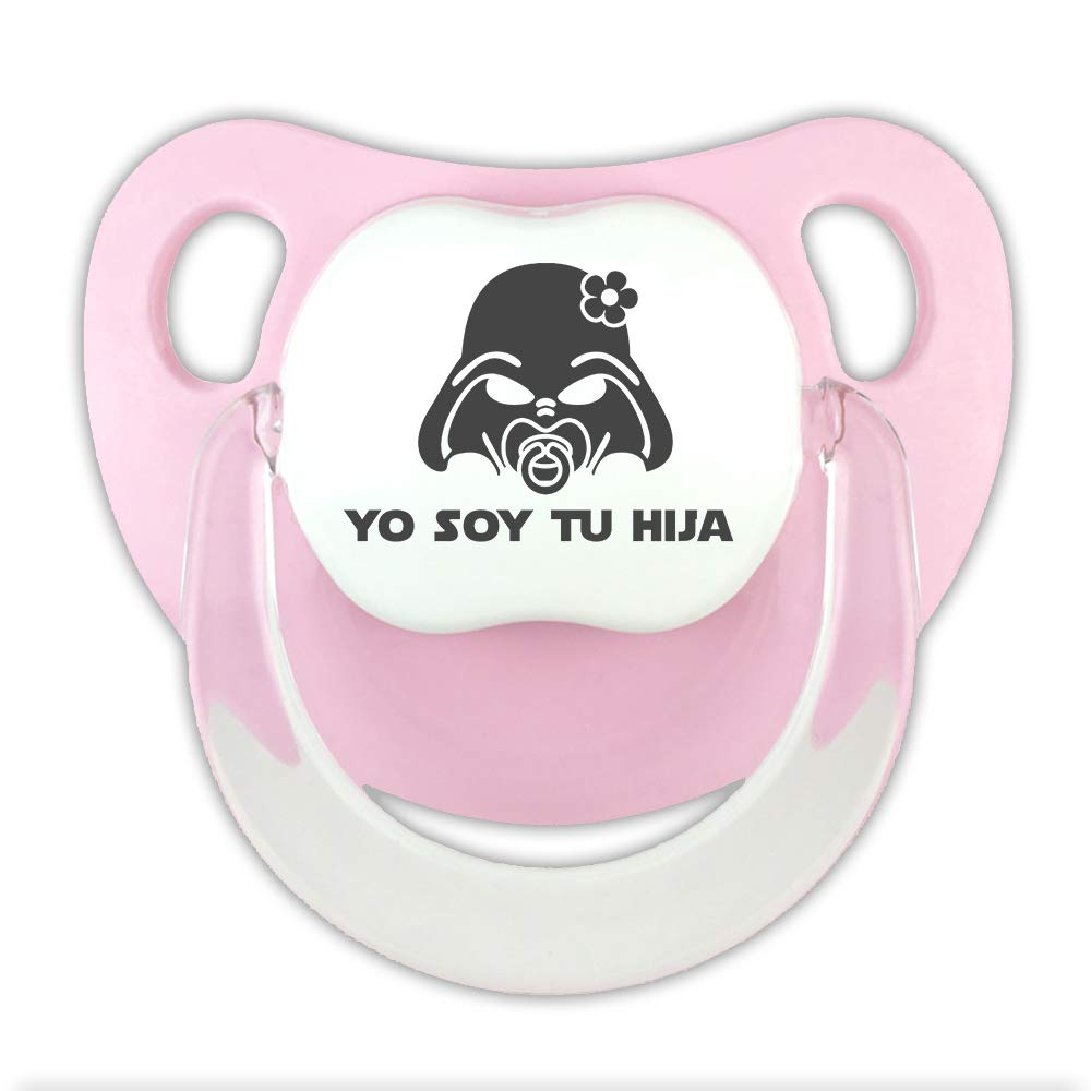 Darth Vader. chupete beb/é parodia Star Wars Chupete Yo soy tu hija Rosa, 0-6 meses Chupete friki
