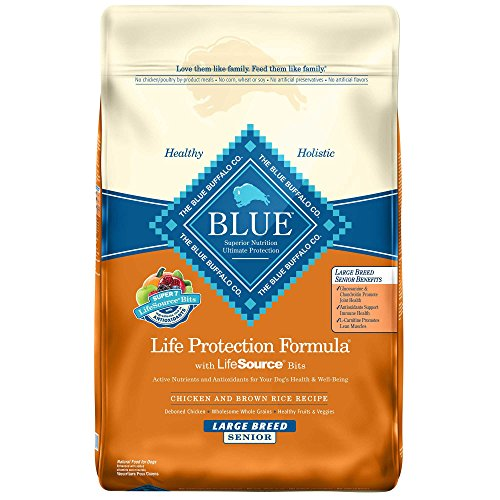 Blue Buffalo Dry Food for Large Breed Senior Dogs, Chicke...