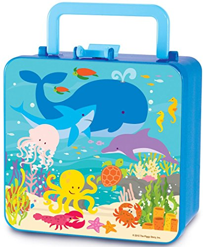 The Piggy Story 'Under The Sea' Double Decker Handled Bento Lunch Box for Kids