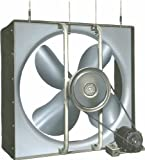 Airmaster 32688 Whole House Fan, 2 Speed, Semi-Enclosed Motor, 30'' Prop Diameter, 115V, 1/3HP Motor