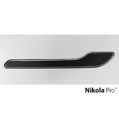 Nikola Pro Tesla Model 3 Door Handle Wrap Kit (Matte Black): Automotive