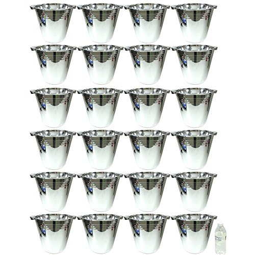 24 Plastic Reusable Ice Buckets 5.9L Tubs Cooler Wine Champagne Bar Beer (Plastic Ice Buckets)