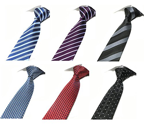 Tiger Mama 6pcs Business Skinny Necktie Tie Mixed Lot - Set ()