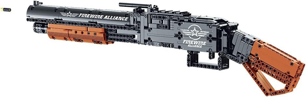Xshion Arma de construcción de ladrillo, 791+Pcs M1897 Winchester Shooting Gun Bloques de construcción con balas Militar Set de construcción compatible con Lego