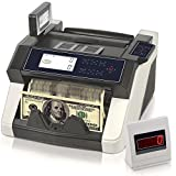 Upgraded Pyle Bill Counter, Cash, Automatic Counting Machine, Toploader, UV & MG Counterfeit Detection, UV Scanning, LCD Display, 1050 Pieces Per Min, U.S. & Canadian Dollar, Euros & Pound (PRMC680)