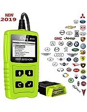 JDiag OBD2 de diagnóstico automático Escáner OBDII para todos los vehículos desde 2000 con modos OBD2 / EOBD / CAN para leer y borrar el código de error y la prueba de batería