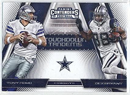 Amazon.com  2016 Contenders Touchdown Tandems  6 Dez Bryant Tony ... f40df8845