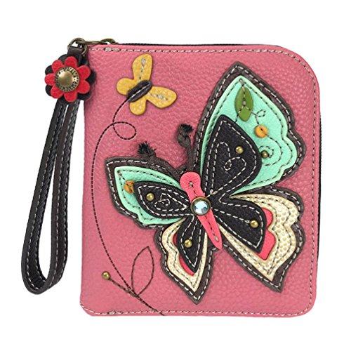 Chala Butterfly ZipAround Wristlet Wallet Butterfly Collector Butterfly Lover