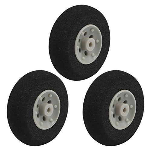 3pcs RC Remote Control Airplane Aircraft Sponge Wheel D30mm H10mm d2mm