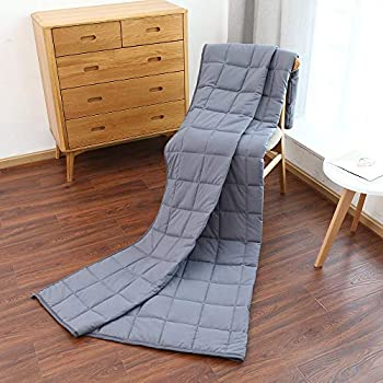 Image of SONAICE Adult Weighted Blankets (15 lbs, 48? x 72?, Twin Size) Heavy Blanket, Breathable Cotton with Natural Glass Beads SONAICE B07SM8R1CC Weighted Blankets