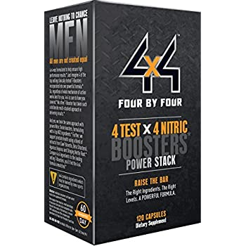 4x4 Nitric Oxide and Testosterone Booster with KSM-66, ViNitrox and Phytopin, 120