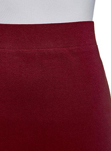 Basique Femme Jupe Crayon Ultra Rouge 4902n oodji pvI5qwBa