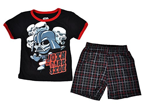 Star Wars Disney Toddler Tee and Shorts Set (Black, 3T)