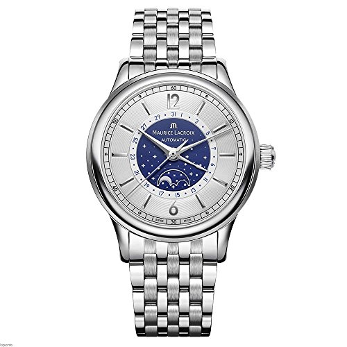 Maurice Lacroix Men's Les Classiques Swiss-Automatic Watch with Stainless-Steel Strap, Silver (Model: LC6168-SS002-122-1)