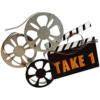 Home Theater Decor Movie Reel And Film Metal Wall Art Wall - Home theater wall decor