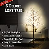 BenefitUSA 6ft Star Light Tree 240 LED Light Warm Light Party Christmas Decoration New