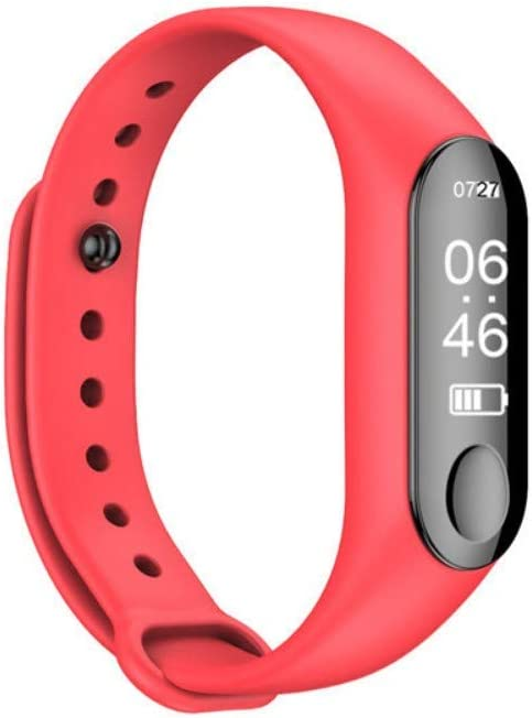NFGGLM Pulsera Inteligente para Hombres Y Mujeres Reloj Impermeable Bluetooth Contador De Pasos Multifunción Deportes Rojo: Amazon.es: Deportes y aire libre