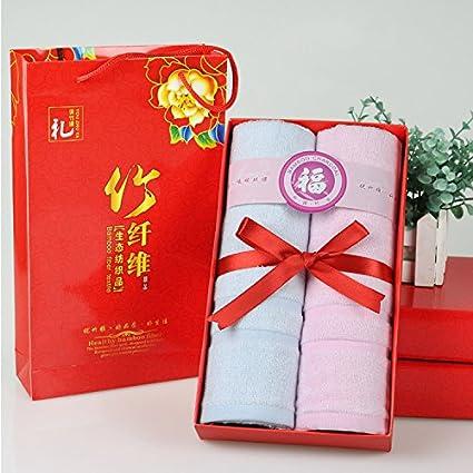 ZHFC 2 bar towel Box personal Bienestar cumpleaños matrimonio bodas reuniones Eventos regalo práctica toalla 30x66cm