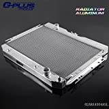 50mm 2 Row Aluminum Radiator For 1963-1968 Chevy BELAIR IMPALA For CHEVY CAPRICE 1966-1968 For CHEVY CHEVELLE EL CAMINO 1964-1967 For CHEVY BISCAYNE1963-1968 High Capacity 1959 1960