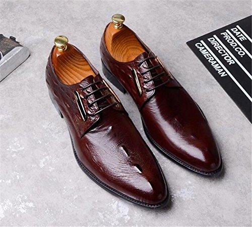Hommes Chaussures Cuir véritable Modèle de crocodile Entreprise Formel Robe Lacets Taille 38 à 45 Brown 3wNiMSSc1