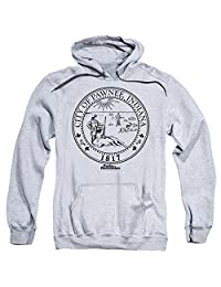 Parks And Recreation Comedy NBC TV Series Pawnee Seal Adult Pull-Over Hoodie