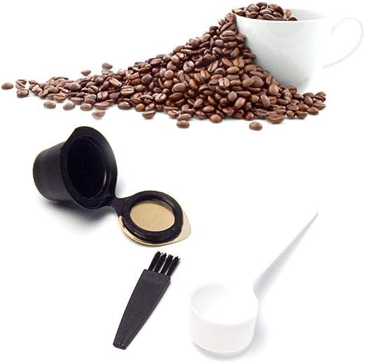 Volwco Cápsulas reutilizables Nespresso, cápsulas recargables de ...