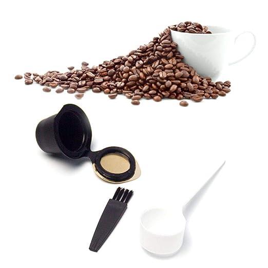 Auoker - Filtros de cápsulas de café recargables reutilizables ...