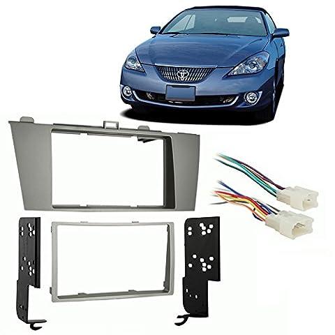Fits Toyota Solara 2004-2008 Double DIN Stereo Harness Radio Install Dash Kit (Dash Kit Solara)