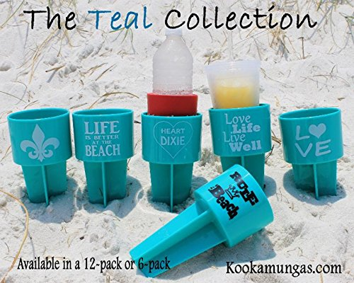 Spiker Lifestyle Holder, Teal Collection, 6-Pack