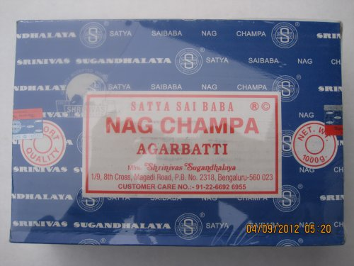 Nag Champa Incense Sticks 1kg (1000g) Box - incensecentral.us