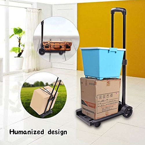 Kaluo Folding Hand Truck 90 Lbs Capacity 4 Wheels Portable Dolly Cart Hand Trolley For Luggage ,Traveling, Shopping, Moving and Office Use by Kaluo (Image #6)