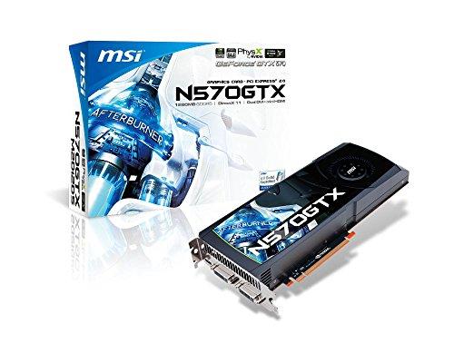51nfsmmXeOL - MSI nVidia GeForce GTX570 OC 1280MB DDR5 2DVI/Mini HDMI PCI-Express Video Card (N570GTX-M2D12D5/OC)