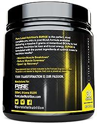 Pure BCAA Amino Acids Powder | Essential Amino Acids | Branched Chain Amino Acids 5000mg + Instantized | Leucine + Valine + Glutamine Supplement | Lemon Lime Surge 2:1:1 Powder