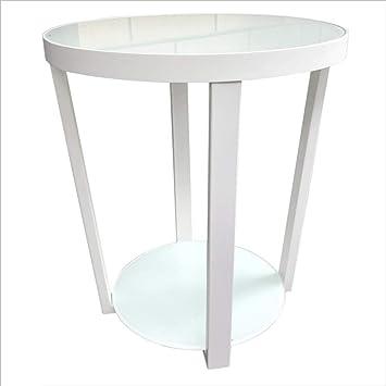 ACZZ Mesa plegable Sala de estar Mesa redonda pequeña Mesa de té ...