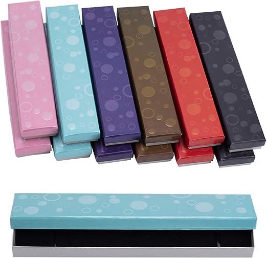 NBEADS Gargantilla de Cartón para Collar, Caja de Regalo con Esponja Interior, 21 X 4,5 X 2 Cm: Amazon.es: Hogar