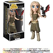Daenerys Targaryen: Funko Rock Candy x Game of Thrones Vinyl Figure + 1 Official Game of Thrones Trading Card Bundle (14950)