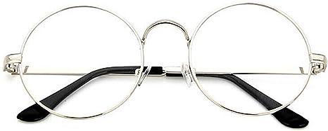 TININNA Unisex Retro Runde Metall klare Linse Brille Mit Fensterglas Damen Herren Brillenfassung,Dekogl/äser Klassisches Rund Rahmen Golden Muster Bein Mode Damen//Herren Brillen Braun