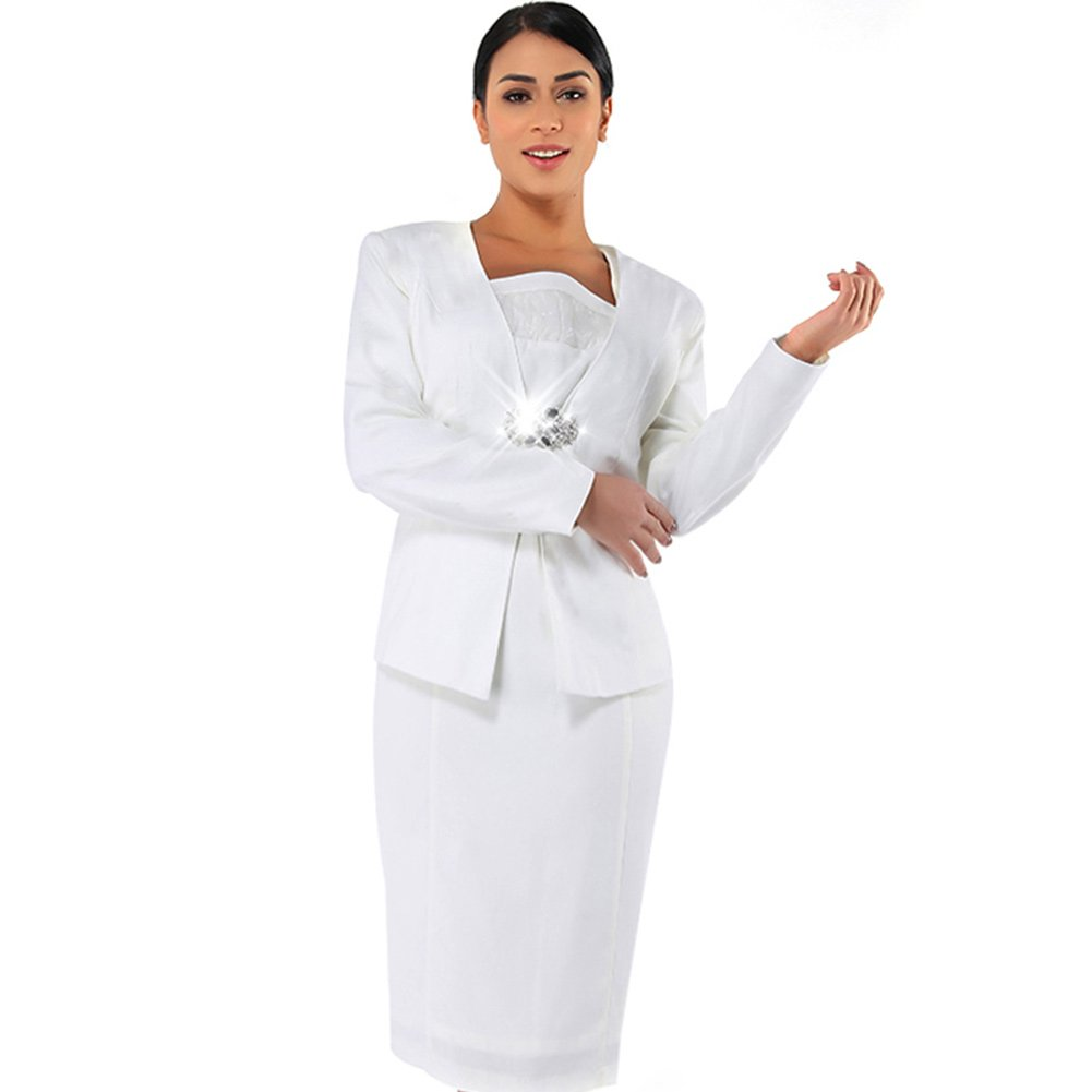 Kueeni Women Church Suits With Hats Church Dress Suit For Ladies Formal Church Clothes,Suits Only,020