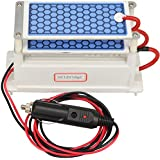 ATWFS DC 12v 10g/H Car Ozone Generator Air Purifier Ozonizer Cleaning Ozone Ceramic Plate Air Sterilizer
