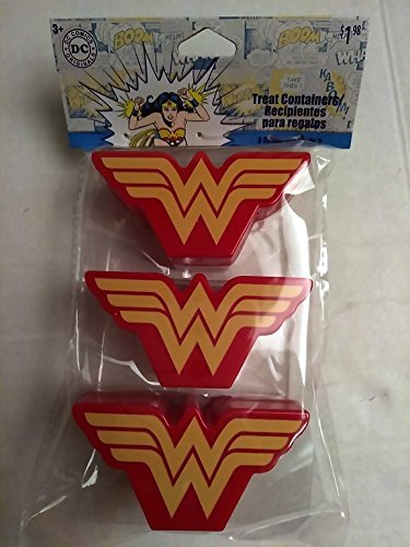 Happy WONDER WOMAN Girls Easter Basket Kids Toddlers Gift Children Pre Made Girls Eggs Stickers Goodies Candy Holder