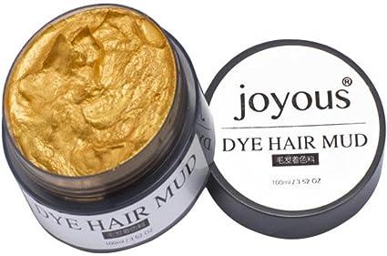 Chartsea - Tinte profesional para el pelo, arcilla para el pelo, crema de tinte para abuelo, ceniza, tinte temporal para el pelo, para hombres, ...
